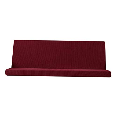 Fenteer Stretch Futon Cover Full Size Mattress Cover,Sofa Bed Covers,Washable Slipcover Sofa Cover, Furniture Cover - Red