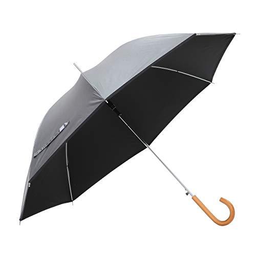 傘と日傘専門店リーベン(Lieben) 日傘 いぶし銀/ブラック 60cm×8本骨 リーベンひんやり傘 無地ジャンプ傘 遮熱 遮光 LIEBEN-0102