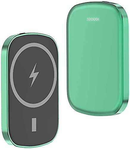 Kettles Banco de Potencia inalámbrica 10000mAh - Cargador mag-Safe 15W Caja de batería magnética del Cargador rápido 15W Compatible con iPhone 12/12 Mini / 12 Pro / 12 Pro 20W USB-C Carga de Salida
