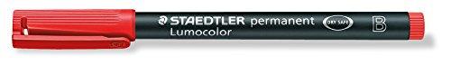 STAEDTLER LUMOCOLOR OHP PEN BROAD - RED - PERMANENT MARKER PEN DVD CD GLASS PLASTIC MARKER