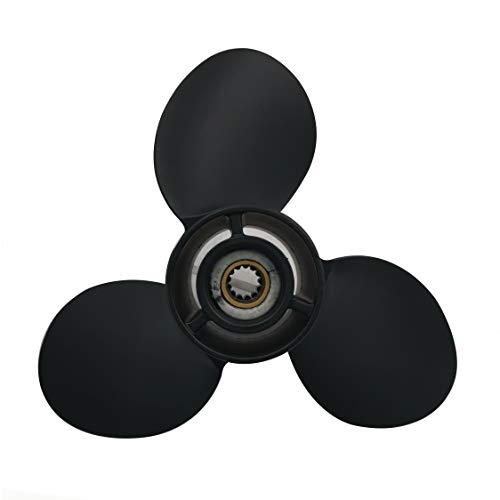 Aluminum 3 Blades Prop Propeller for BRP,Johnson,Evinrude,OMC Stern Drive 8-15HP (9 1/4(Dia) x11(Pitch))