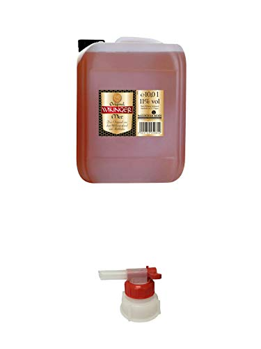 Wikinger Met Behn 10 Liter Kanister Honigwein + Pumpe für Wikinger Met Kanister