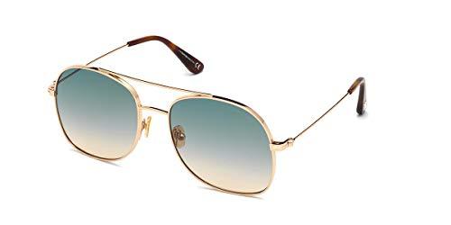 Tom Ford Sunglasses FT0758 28P 58/18/140 - Gafas de sol para mujer, color oro rosa brillante