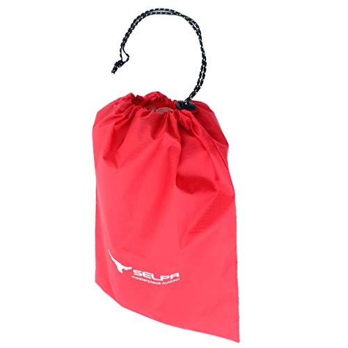 Baoblaze Sacs de Cordon Course Sac de Rangement Stockage Vêtement Protection Sport Extérieur - Rouge, S