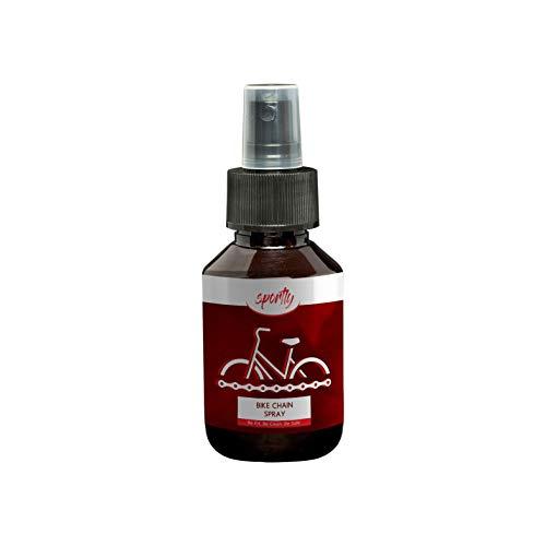 Sportly Kettenreiniger für das Fahrrad 100ml Spray | reinigen & ölen der Fahrradkette | Kettenöl & Kettenspray für das Bike | Veganes Bio Fahrradöl mit natürlichem Rapsöl