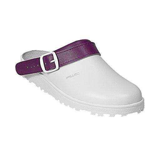 AWC-Footwear 17000-19-44-38 Classic color Arbeitsschuhe, Mehrfarbig (Weiß/Aubergine Weiß/Aubergine), 38 EU