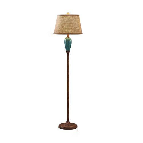 ZA Nordic vaas design-E27-vloerlamp, klassieke vloerlamp, antieke keramische kunst, kantoor, slaapkamer, woonkamer, verticale metalen vloerlamp