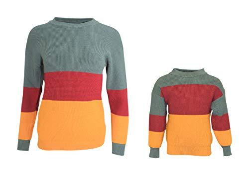 Unique Baby Girls Mommy Me Matching Winter Fall Sweater (7/XXL, Green)