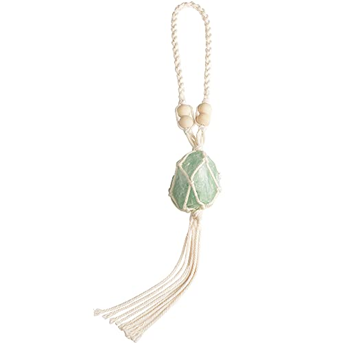 Nicestone Natural Green Fluorite Hanging Ornament Raw Crystal Hanging Car Ornament Meditation...