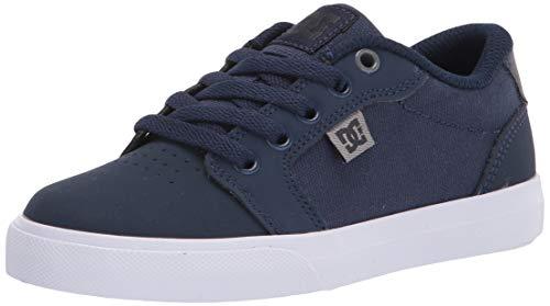 DC Boys' Anvil Skate Shoe, Grey Heather, 13 M US