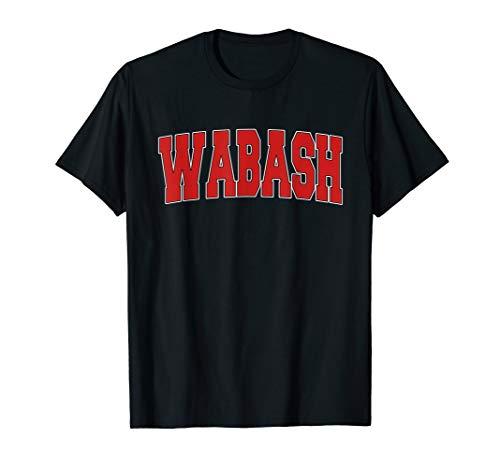 WABASH IN INDIANA Varsity Style USA Vintage Sports T-Shirt