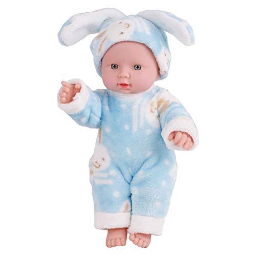 Woorea Mueca de simulacin para recin Nacido,mueca beb para nios Juguetes,mueco de recin Nacido emulado,Mueca de Lindo,Disfraz de Conejito