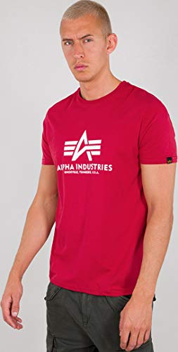 Alpha Industries Basic T-Shirt Dunkelrot 3XL