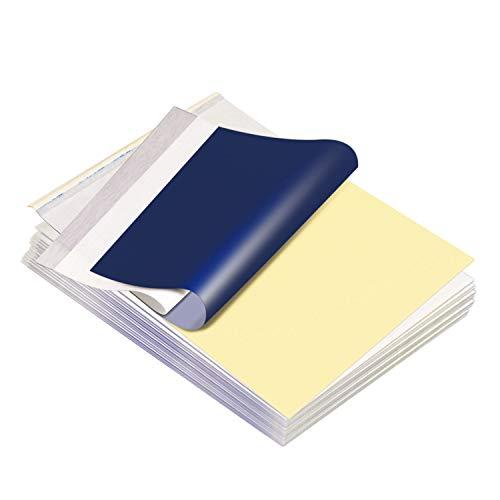 Chiitek 16 hojas de papel de transferencia de tatuajes de papel de 21,9 x 27,9 cm, tamaño A4 para tatuaje