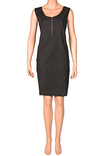 Nanso jurk draagjurk met linnen ronde hals ritssluiting maat 44 46 48 Lengte 95 cm