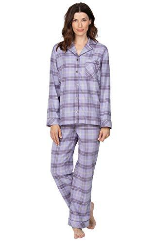 Addison Meadow Womens Pajama Sets - Plaid Pajamas, Lavender, SM