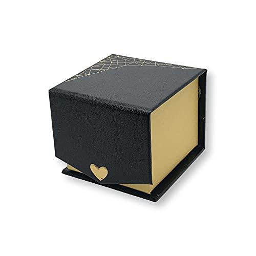 Caja de anillo de piel sintética de lujo para el día de la boda – Cajas de anillo de regalo para ocasiones especiales