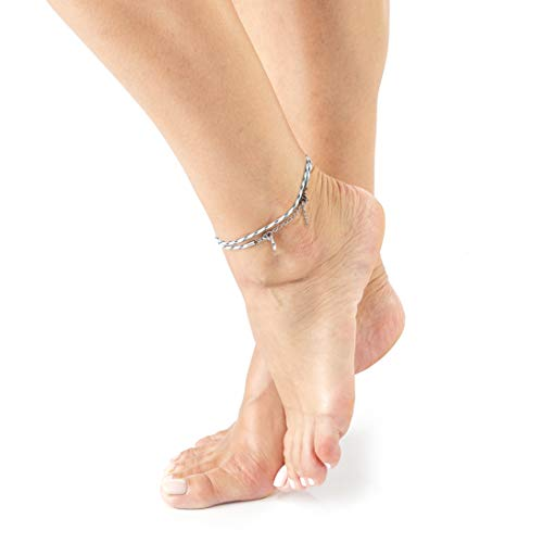 Wind Passion White Ankle Bracelet for Women, Unique Adjustable Rope Anklets Foot Jewelry for Girls, Teens