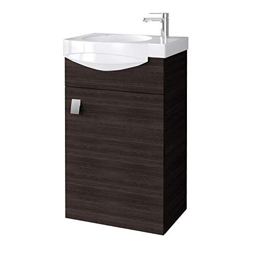 Planetmöbel Badmöbel Set Gäste WC Waschtischunterschrank Keramikwaschbecken Wenge