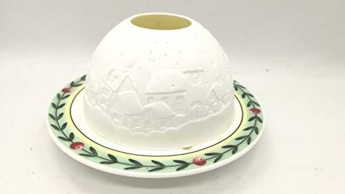 Il Chiosco del Regalo Villeroy & Boch Weihnachten Kerzenhalter mit Untertasse aus Keramik und Kerze