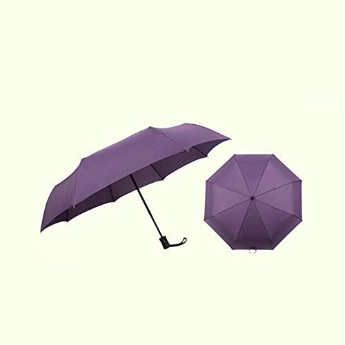 NUEVO Paraguas de Viaje Para Mochila y Automóvil con Paraguas Invertido Apertura y Cierre Automáticos Sombrillas de Lluvia Portátiles Plegables a Prueba de Viento Ligeras Para Mujeres y Hombres,Purple