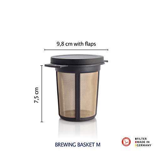 Finum Reusable Stainless Steel Coffee and Tea Infusing Mesh Brewing Basket, Medium, Green