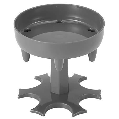 XiangXin Mehrzweck-Glasspender, ABS-Material Langlebig Einfach zu verwendender(Square Column Wine Tray Gray, Type A)