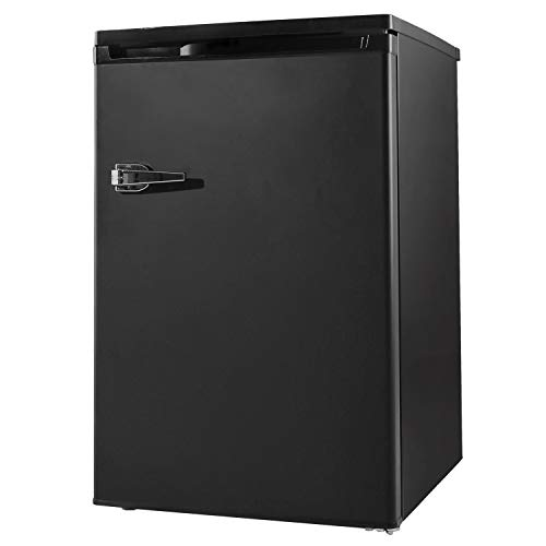 RMYHOME 3.0 Cu.ft Compact Upright Freezer, Mini Freezer with Single Door and Shelves, Adjustable Leveling legs, Cold Storage of Food & Beverage for Home, Office, Dormitory, Apartment, Black