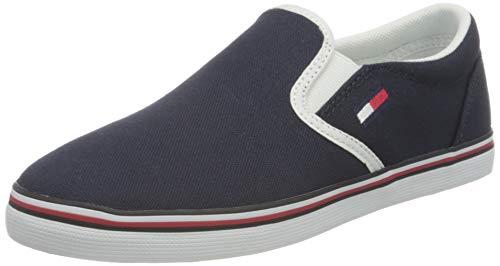 Tommy Jeans Essential Slip On Sneaker, Scarpe da Ginnastica Basse Donna, Blu (Twilight Navy C87), 40 EU