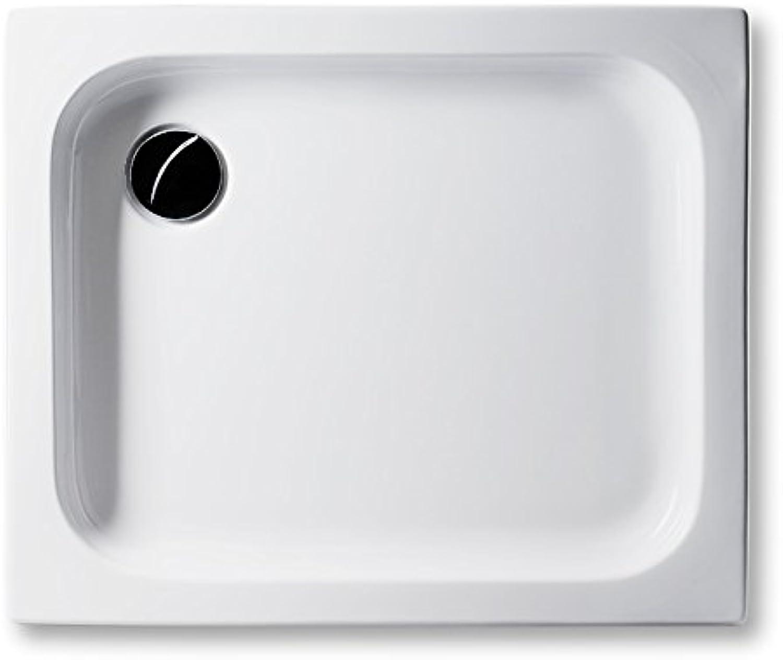 Acryl Duschwanne 90 x 75 cm flach 6,5 cm, rechteckig wei Dusche Duschtasse   Brausewanne