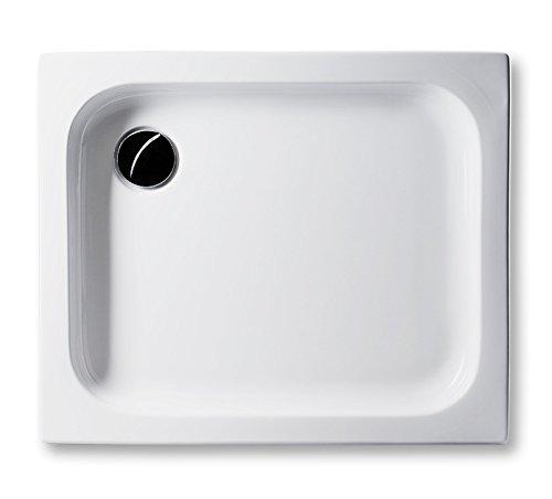 Acryl Duschwanne 90 x 75 cm flach 6,5 cm, rechteckig weiß Dusche/Duschtasse / Brausewanne