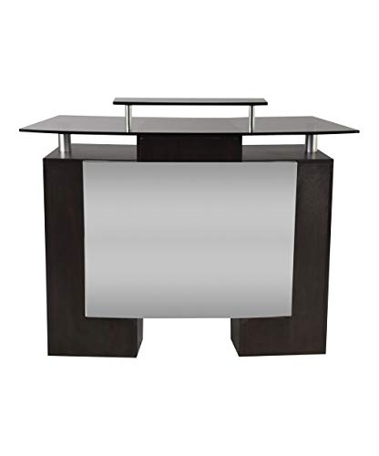J & A Glass Top Reception Desk for Salons & Spas