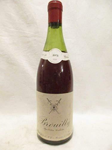 brouilly château de chatelard tête de cuvée rouge 1971 - beaujolais