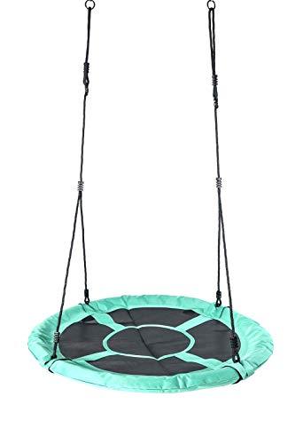 Nestschaukel 110 cm Garten-Schaukel Rundschaukel Tellerschaukel bis 150kg (Mintgrün)