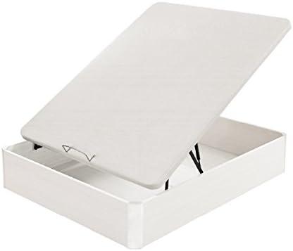 Flex - Canapé Abatible Madera Transpirable Tapa 3D - 90X190, Color Blanco