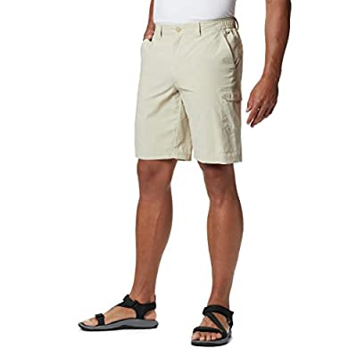 Columbia Men's PFG Blood and Guts III Short, Stain Repellant, Sun Protection, 34x10, Fossil
