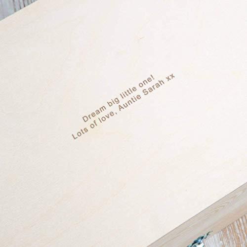 Erinnerungsbox Baby Mädchen personalisiert, Geschenk für Taufe Mädchen, Patenkind Geschenk, Babys erstes Weihnachten - 5