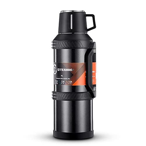PTHZ Botella de Agua con Aislamiento para Exteriores, Botella de Agua de Acero Inoxidable con Aislamiento al vacío con asa, 4000 ml de Gran Capacidad, Adecuada para Viajes y campamentos