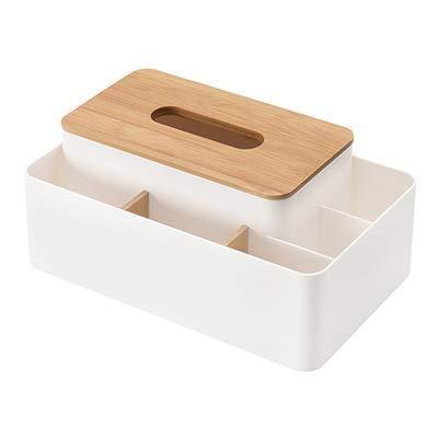 Caja de pañuelos multifunción con mando a distancia para lápices y lápices, caja de almacenamiento de escritorio, contenedor para uso doméstico y oficina (color: A) Kaikai (color: A)