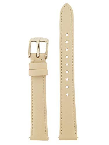 Fossil Uhrenarmband 14mm Leder Beige Uhrband ES-3793 / LB-ES3793