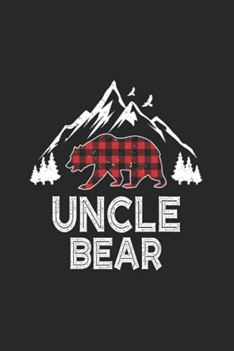 Uncle Bear Christmas Notebook Red Plaid Buffalo Family Gift: Notebook to Write In for Journals