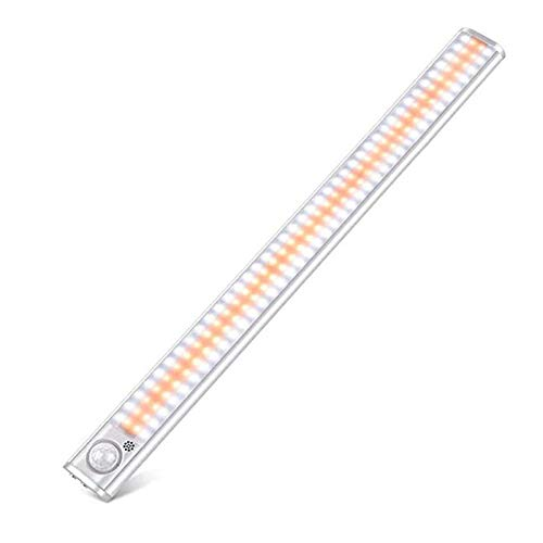 LXYY Luz Armario USB Recargable con Sensor de Movimiento Magnéticas Lámpara Nocturna Ideal para Armario Garaje Gabinete Escalera,22 * 3.6 * 1.5cm
