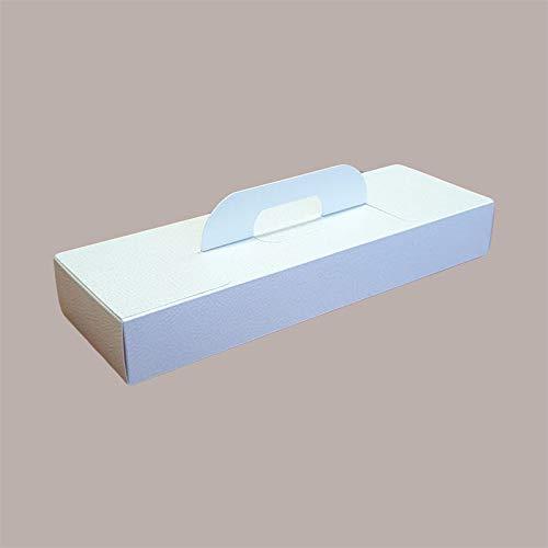 Lucgel Srl - 10 cajas de cartón porta instrumentos de piel blanca con asa de 400 x 150 x 60 cm para transportar pastelería
