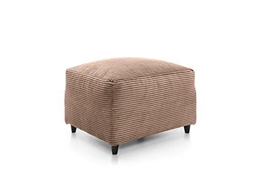 Ecke 2+ 3Kordel Chenille Stoff Sofas, Sessel in braun Schemel braun