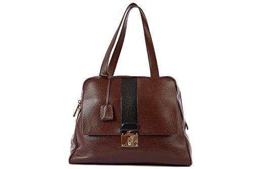 Marc Jacobs Schultertasche Leder Damen Tasche Umhängetasche Bag charlye Braun