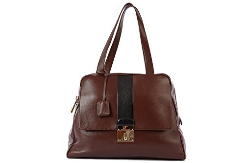 Marc Jacobs 0739R borsa donna CHARLIE marrone GENUINE LEATHER hand bag woman [One size]