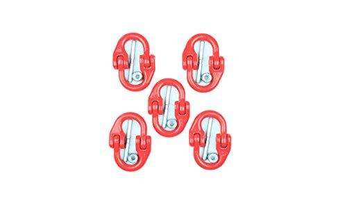 5 Stück Verbindungsglied THI-LOK für 8mm als Spar-Set, Forstkette, Rückekettte, Chokerkette, Tragkraft 2000kg, Bruchlast 7850kg, Gewicht 0,20kg