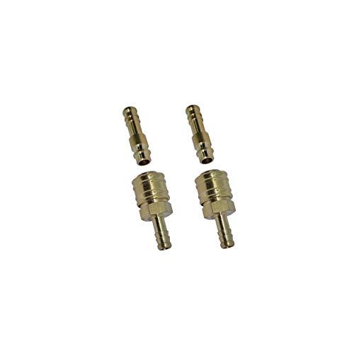 1/2/5/10 Stecker mit Druckluftkupplung Messing Schnellkupplung mit Schlauchtülle 6mm Ventilsteckdose (2)