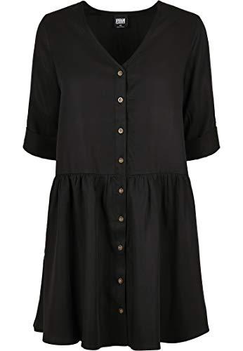 Urban Classics Ladies Babydoll Shirt Dress Vestido, Negro, 3XL para Mujer