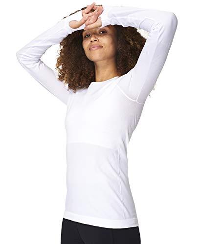 Sweaty Betty Athlete Seamless Long Sleeve Top, White, S